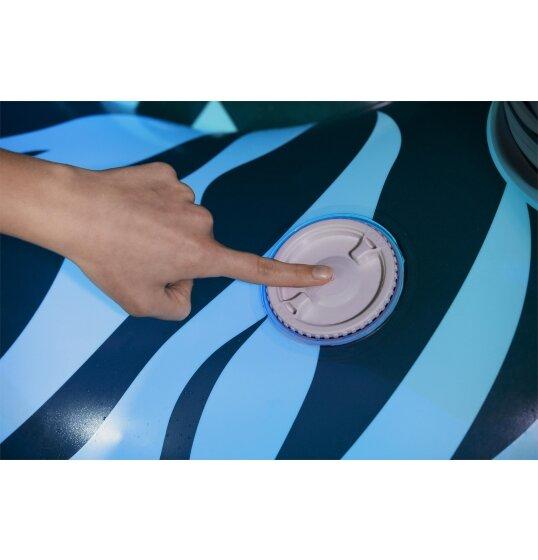 זברה מתנפח לבריכה כפתור